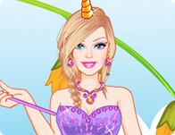 Barbie's Unicorn Dress Up