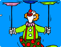 Clown Colouring