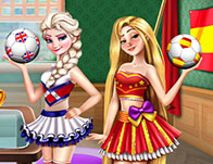 Eliza and Chloe Football Rivals