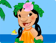 Hawaiian Beach Dressup