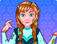 Princess Anna Messy Cleaning