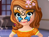 Sofia the First Face Tattoo