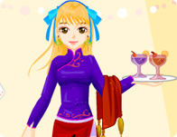 Waitress Restaurant Dressup